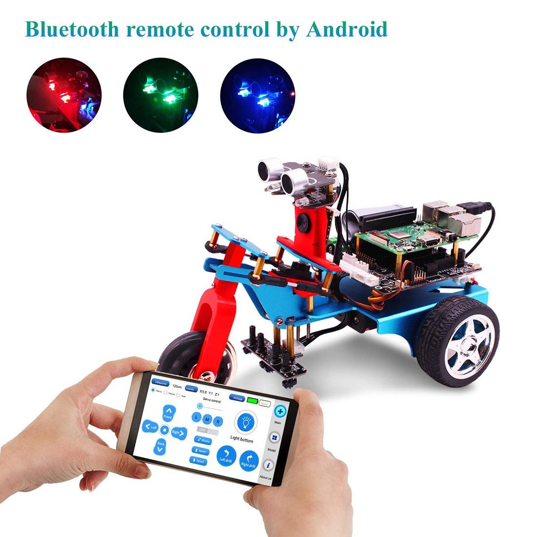 Купить трехколесный умный робот с HD камерой на Raspberry 4B