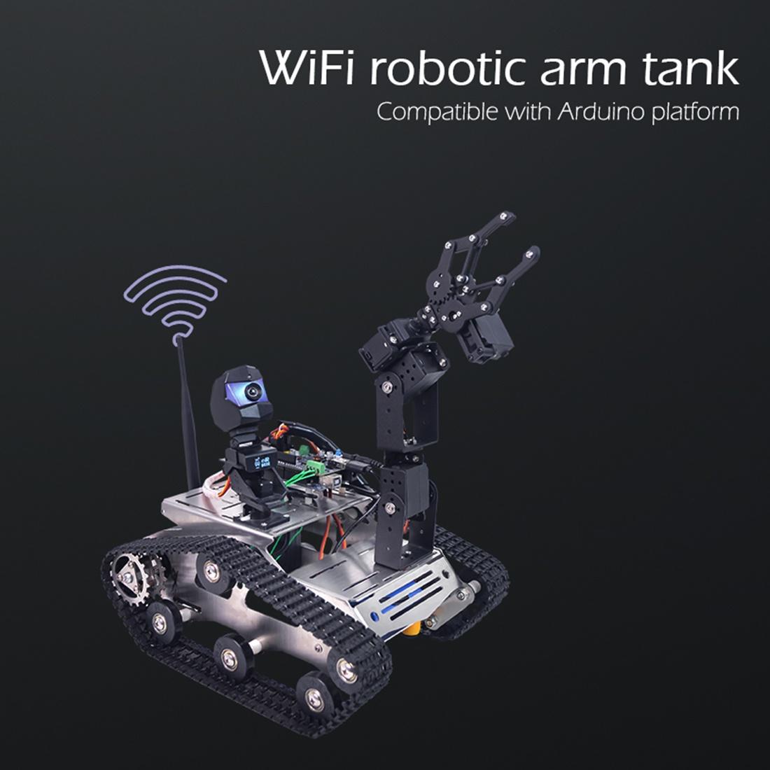 Характеристики комплектаWiFi танк робот Arduino mega