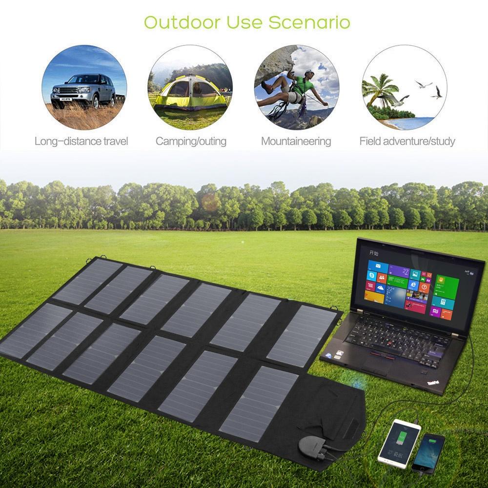 Параметры портативного солнечного зарядного устройства 80Вт 18V для мобильных устройств