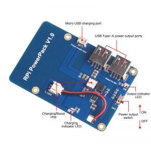 3800mAh 5V / 1.8A Литий-ионная батарея для Raspberry Pi 3 powerpack v.1 техническое описание