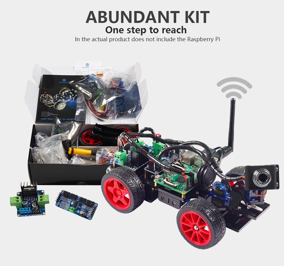 Умный робот автомобиль Raspberry Pi 3 c видеокамерой