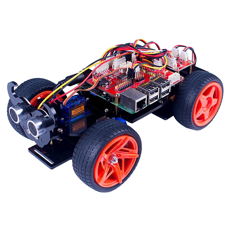 Робот автомобиль с ультразвуковым датчиком SunFounder PiCar-S
