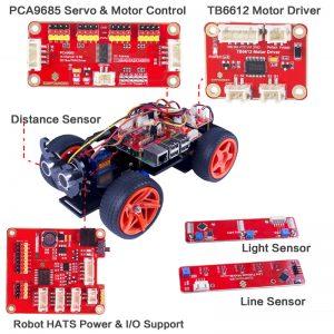 Описание робота автомобиля с ультразвуковым датчиком SunFounder PiCar-S
