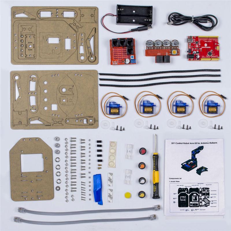 Комплект поставки робота манипулятора с проводным пультом управления
