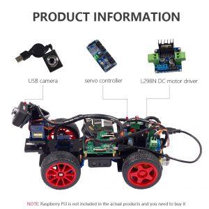 информация о Умный робот автомобиль Raspberry Pi 3 c видеокамерой
