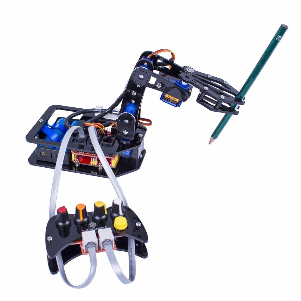 Робот манипулятор с проводным пультом управления для Arduino Uno R3