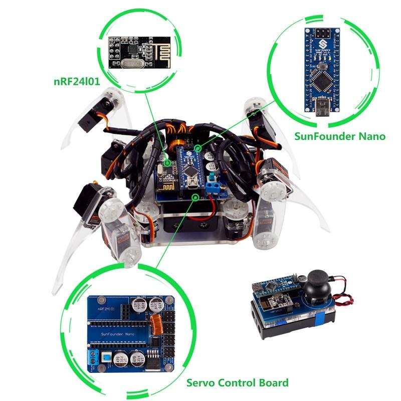 Описание робота паука с Arduino nano