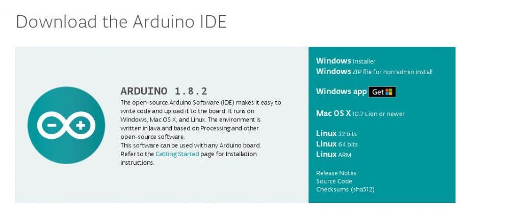 arduino ide 1.8.2.