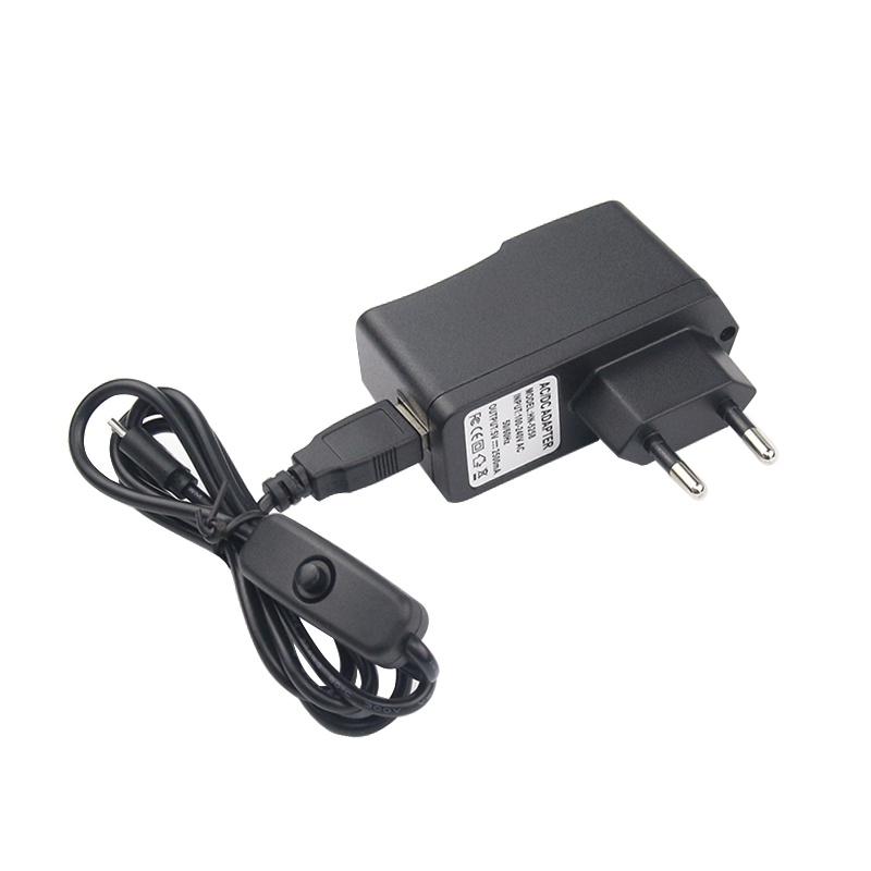 Адаптер питания и кабель с выключателем для Raspberry PI