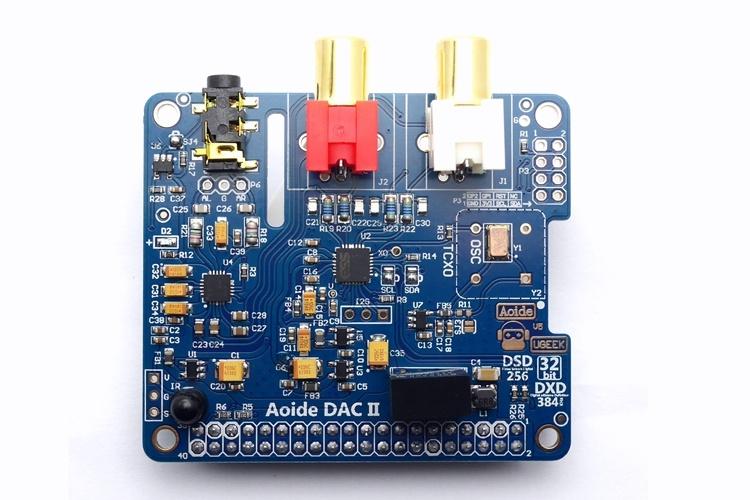 Параметрызвуковой карты DAC II HiFi ES9018K2Mдля Raspberry Pi 3
