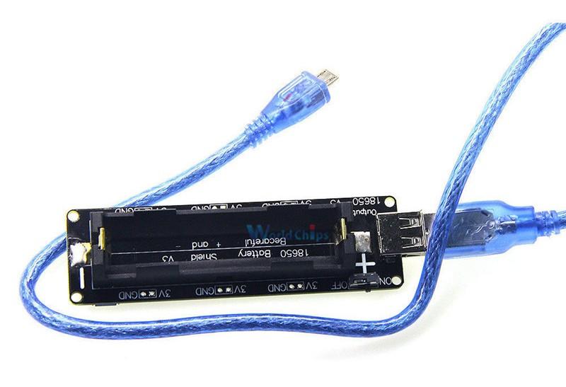 Плата для аккумулятора 18650 для подключения к Raspberry Pi