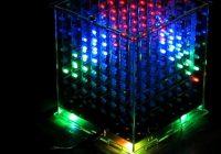 Световой многоцветный куб 8x8x8 с управление на arduino