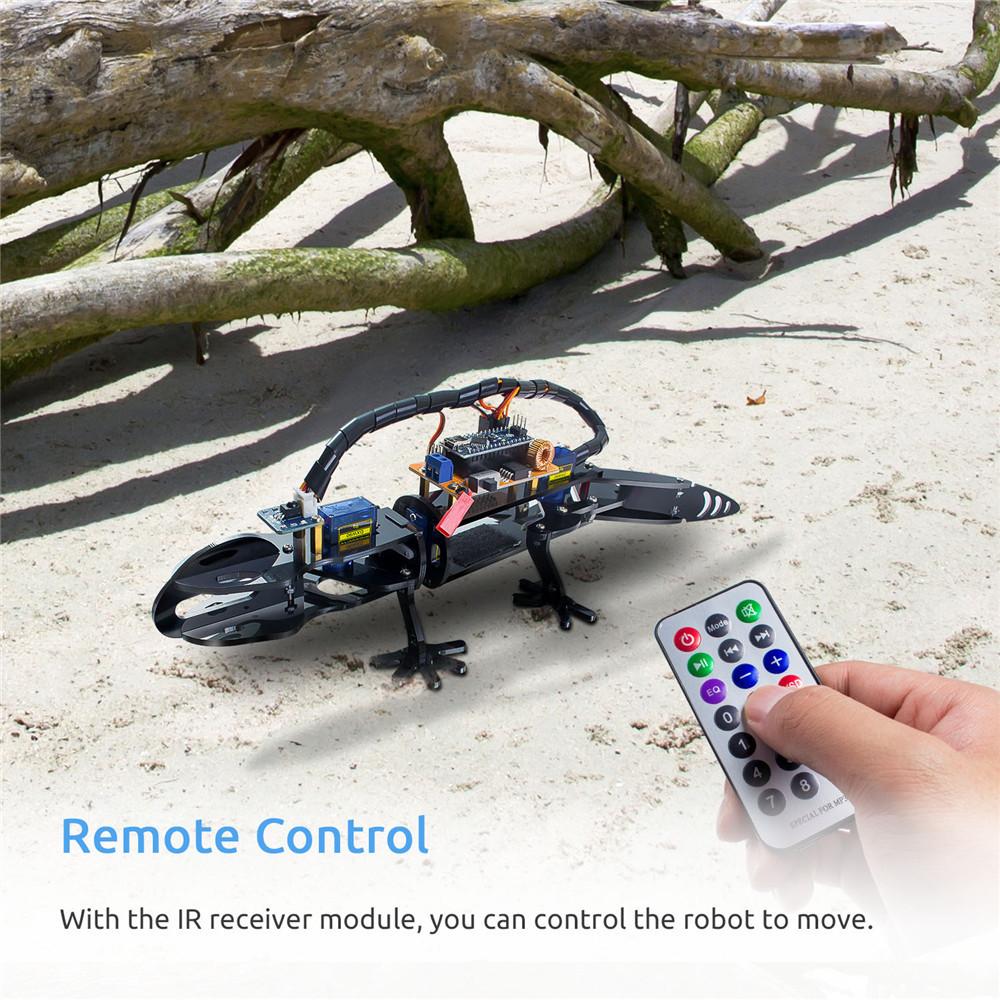 Управление бионическим роботом ящерицы для ардуино нано
