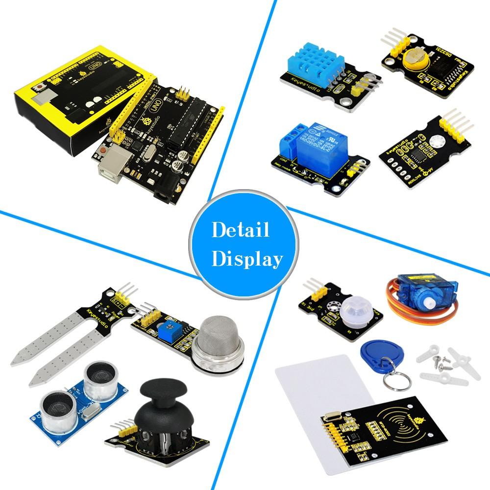 Список проектовStarter Kit Комплект обучения для Arduino с 32 проектами