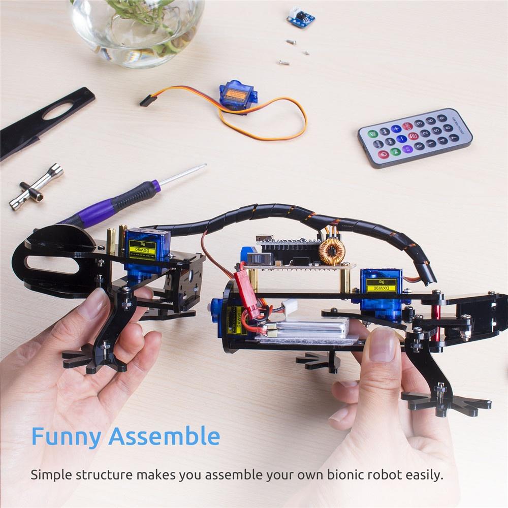Простота сборки бионического робота ящерицы для ардуино нано