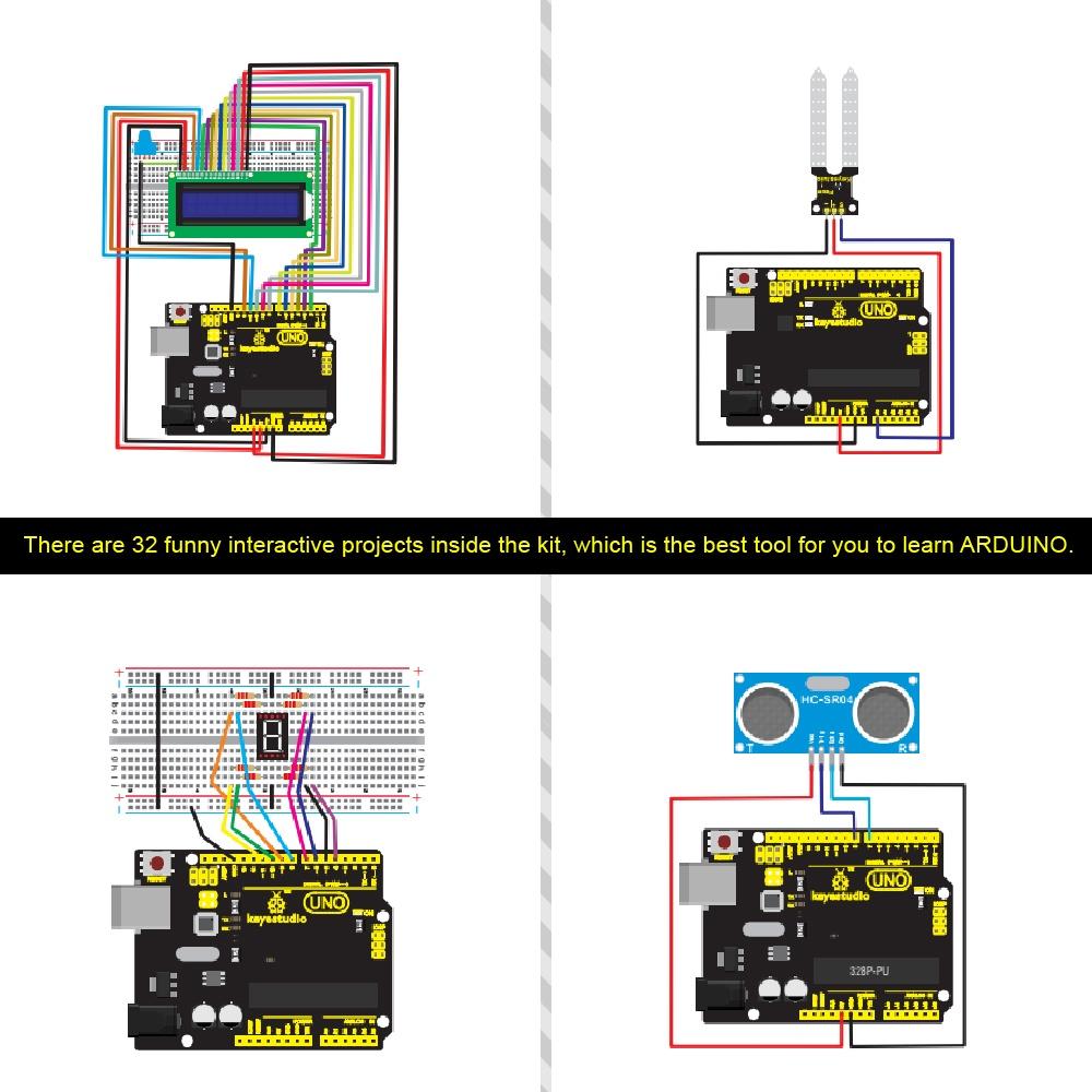 Схемы Комплекта обучения для Arduino UNO с 32 проектами
