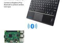 10 дюймовая беспроводная Bluetooth клавиатура для Raspberry Pi с тачпадом для Windows Android