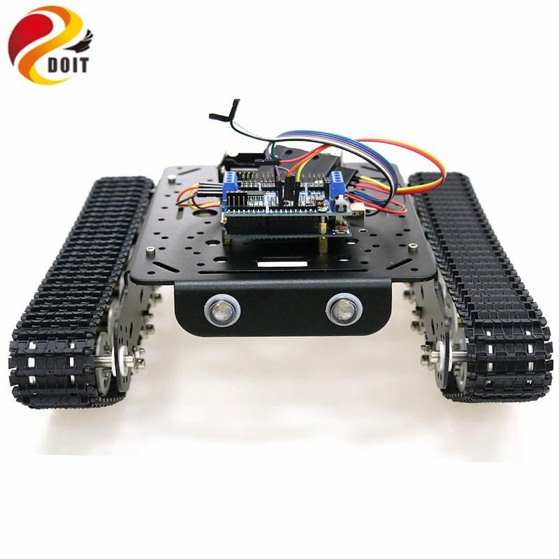 PS2 джойстик управление шасси танка с Arduino для DIY